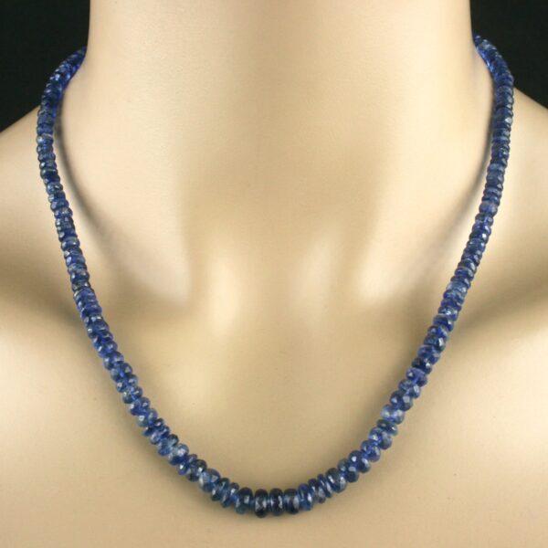 Kyanit Kette 120ct 1 600x600 - Kyanit Kette - Collier in blau, facettiert, 120ct.