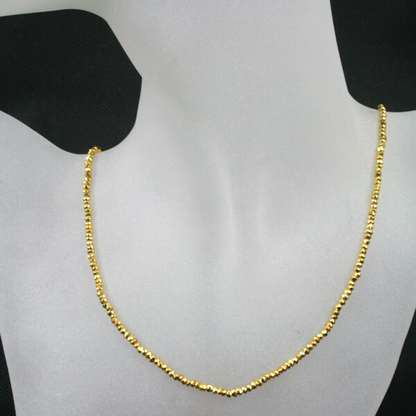Pyrit gold kette 1 600x600 - Pyrit Kette - Collier in gold, 37,50ct.