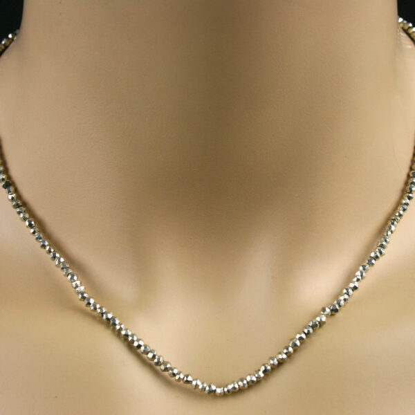 pyrit kette silber 1 600x600 - Pyrit Kette - Collier in silber, 41ct.