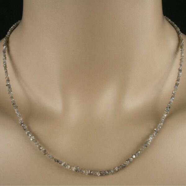 rohdia champ 1 600x600 - Rohdiamant Kette - Collier in champagner, 21 ct.